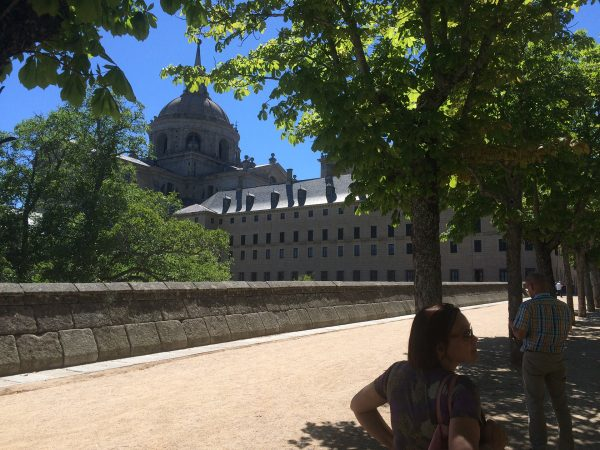 The royal monastery of El Escorial with its basilica, library and tombs.
