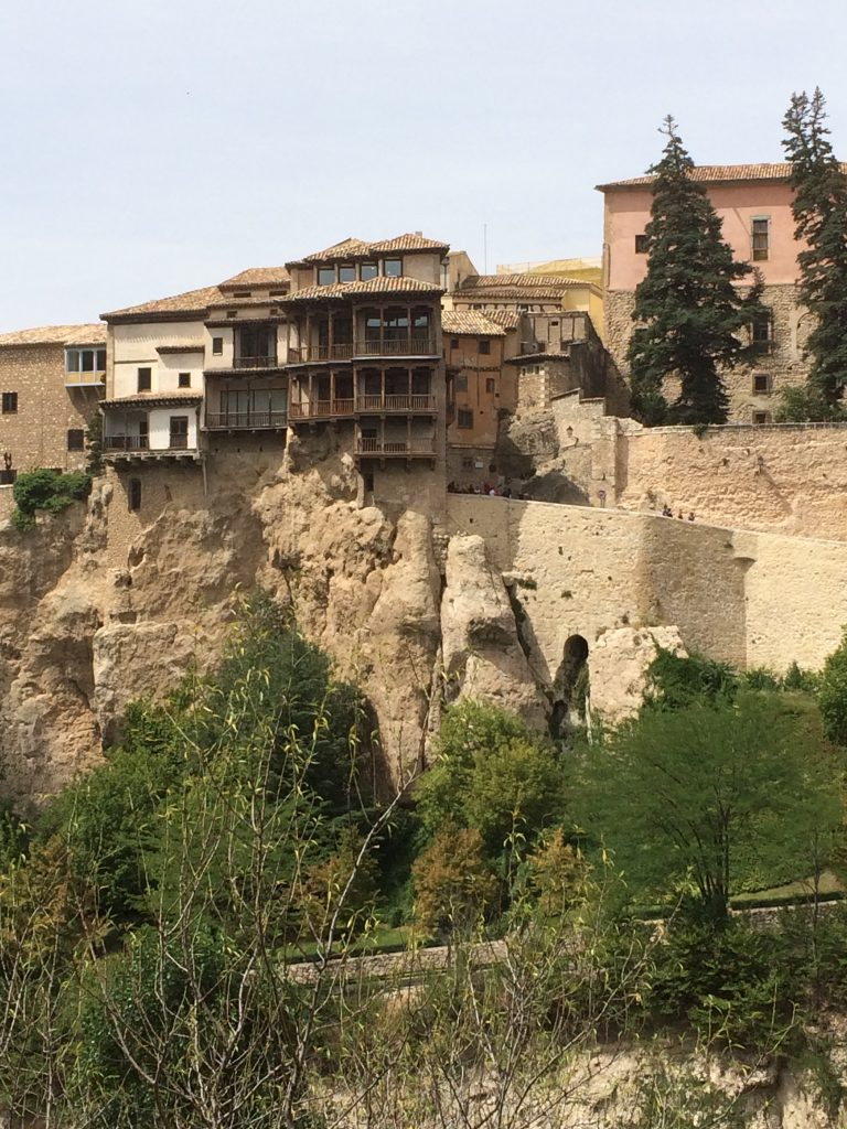 "Cuenca known for its ""hanging houses"", is a town from the ancient Moors' time."