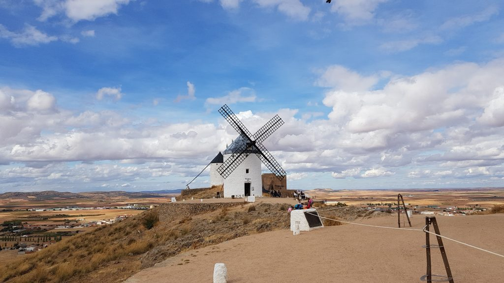 World-famous windmills of Don Quichot in the La Mancha region.